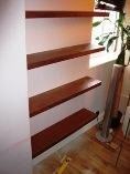 Hand made study shelves